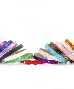 8mm leather bands slide charm bracelets-Bling Bling  Color mixing