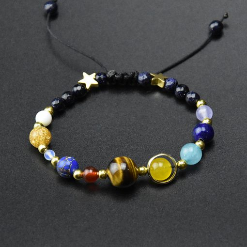 Hot sale solar system eight planets natural stone bead bracelet MS-002
