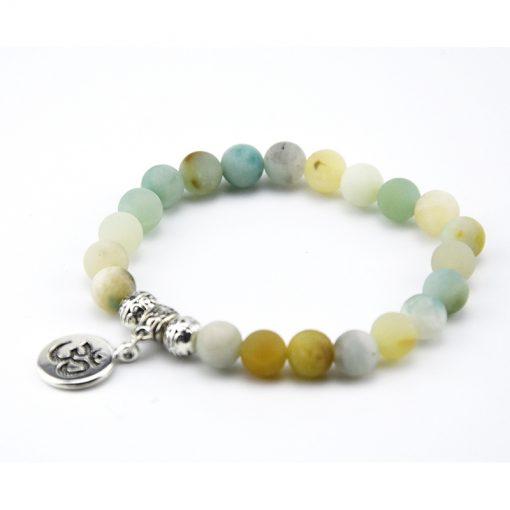 Amazon natural stone beaded bracelet Buddha statue pendant bracelet wholesale MS-021