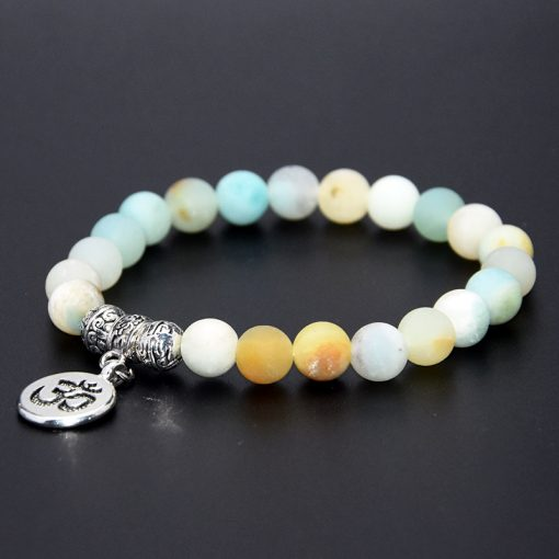 Amazon natural stone beaded bracelet Buddha statue pendant bracelet wholesale MS-021