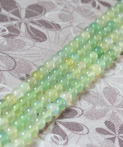 Boutique A Grade 6-12mm Natural Apple Green Agate Loose Beads Wholesale GLGJ-096