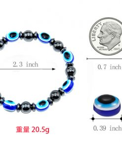 New magnetic black magnet resin eye flat beads stretch bracelet European and American popular jewelry MS-006