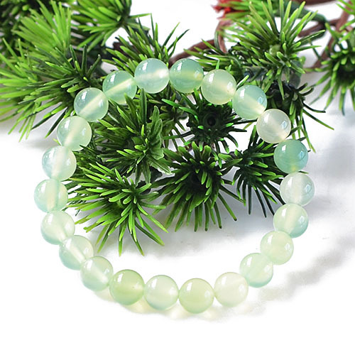 Natural Boutique A Goods Apple Green Agate Loose Bead Accessories 6-16mm Bead Diameter 39cm GLGJ-078