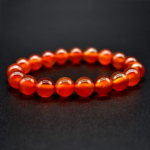 6 8 10mm Natural Red Agate Bracelet Simple Style Men's And Women's Single-Loop Bracelet Factory Wholesale HYue-055