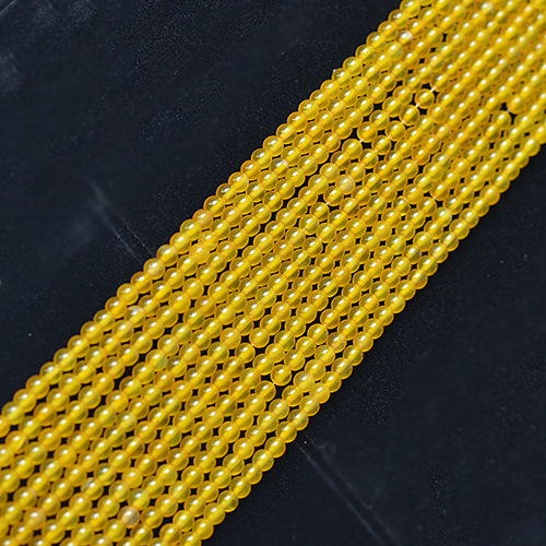 Natural Yellow Agate Loose Bead Accessories 4-12mm Bead Diameter 39cm GLGJ-076
