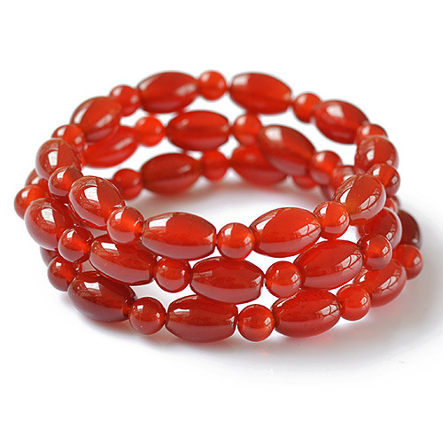 Fine 8mm Red Agate Finished Bracelet GLGJ-085