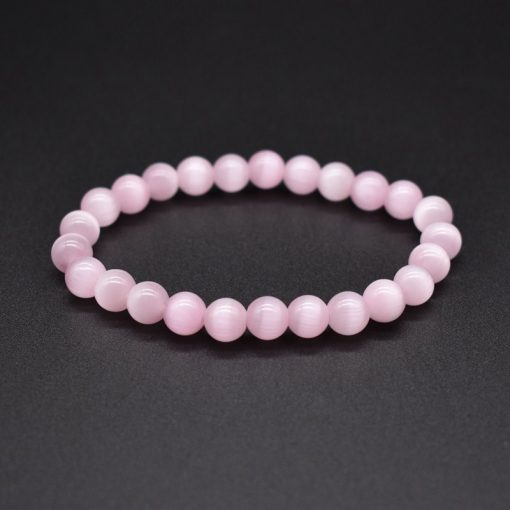 Natural Stone Bracelet Opal Single Circle Pure Color Bracelet Factory Wholesale Mixed Color HYue-039