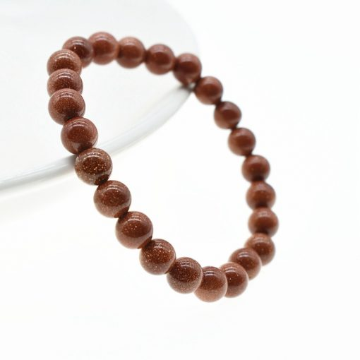 8MM Sandstone Single Circle Simple Manual Beaded Men and Women Bracelets Factory Wholesale HYue-054