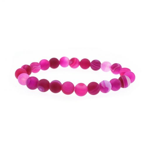 Fashion Simple Single Agate Bracelet Natural Stone Bracelet New Red Bead Bracelet HYue-052