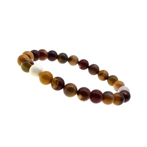8MM Egg Yolk Natural Stone Bracelet For Men And Women Simple Fashion Bracelets Wholesale HYue-050
