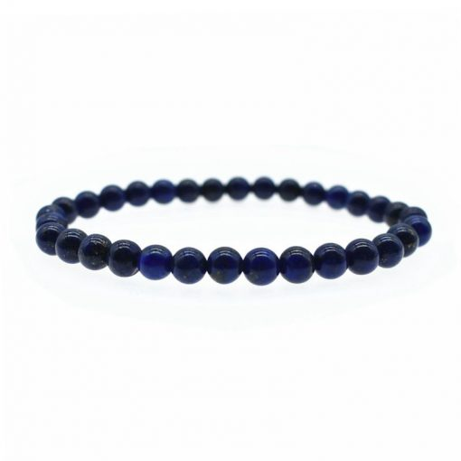 6MM Natural Lapis Lazuli Fashion Single Hoop Bracelet Wholesale HYue-029