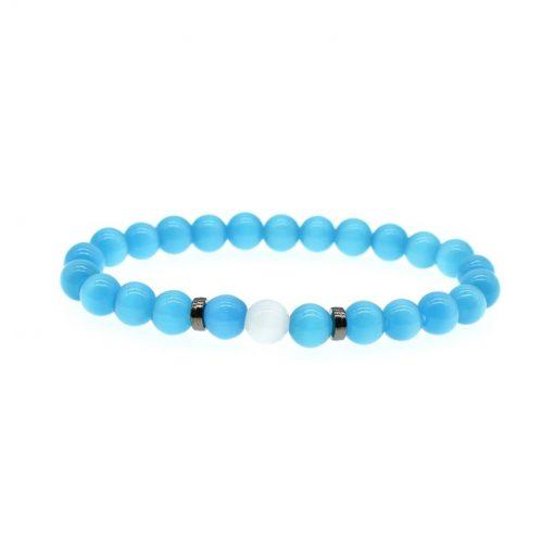 New Blue Opal Bracelet Grey Opal Bracelet Men And Women Fashion Bracelet Set HYue-035