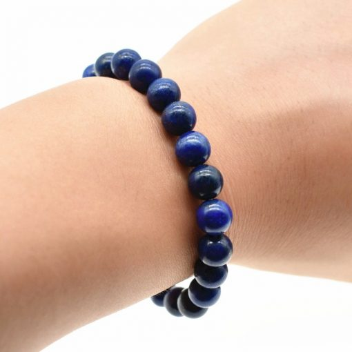 8MM Natural Lapis Lazuli Fashion Single Loop Bracelet Wholesale HYue-040