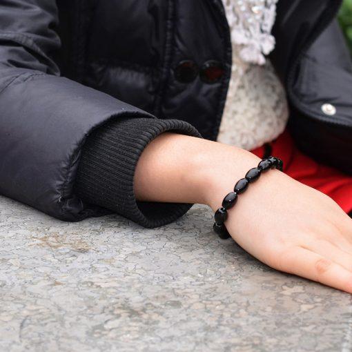 Simple and elegant natural black Agate bracelet. Manufacturers wholesale GLGJ-092