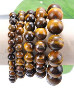Natural yellow tiger's eye single ring bracelet A goods factory wholesale MS-028