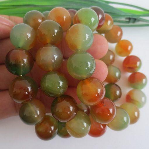 Fine grade A beads 6-16MM natural peacock agate bracelet GLGJ-089