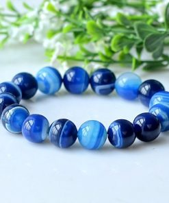 Daughter of the sea natural agate blue gemstone bracelet 6-12mm GLGJ-072