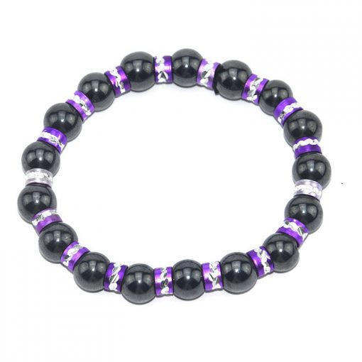 Black Magnetic Magnet Bracelet Gold Alloy Bead Bracelet Bracelet Factory Direct MS-019