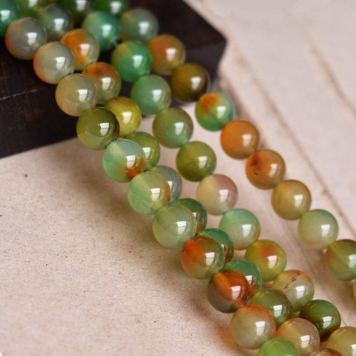 Natural Yellow Agate Loose Bead Accessories 6-16mm Bead Diameter 39cm GLGJ-077