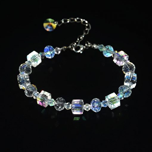 Women's Square Crystal Bracelet Exquisite Luxury Fashion Jewelry MS-012