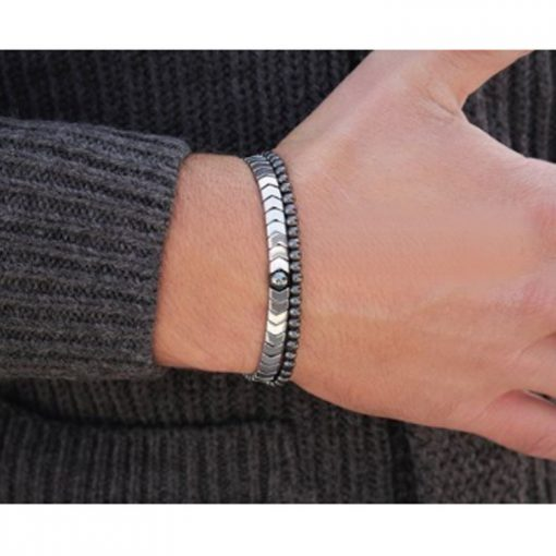 Men's Fashion Charm Hematite Bracelet Simple Hand Made Magnetic Therapy MS-023