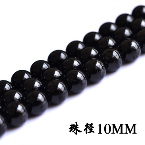 Selected A Grade 4-18MM Natural Black Agate diy Loose Beads Beads GLGJ-071
