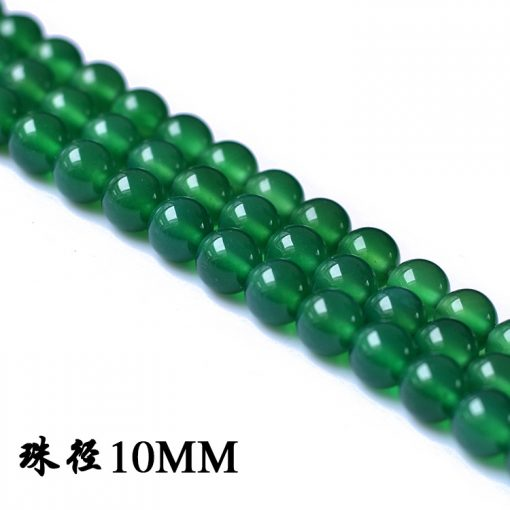 Boutique A grade natural green agate loose beads diy accessories 4-14MM GLGJ-075
