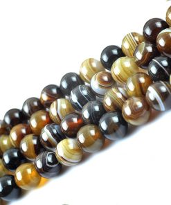 Natural 6-12mm Persian Gulf Agate DIY Loose Bead Wholesale GLGJ-095