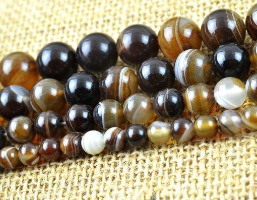 Natural 6-12mm Persian Gulf Agate DIY Loose Bead Wholesale GLGJ-095