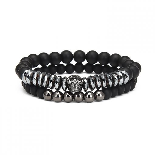 New European and American Micro-set Inlaid Skull Frosted Bracelet Factory Direct MS-027
