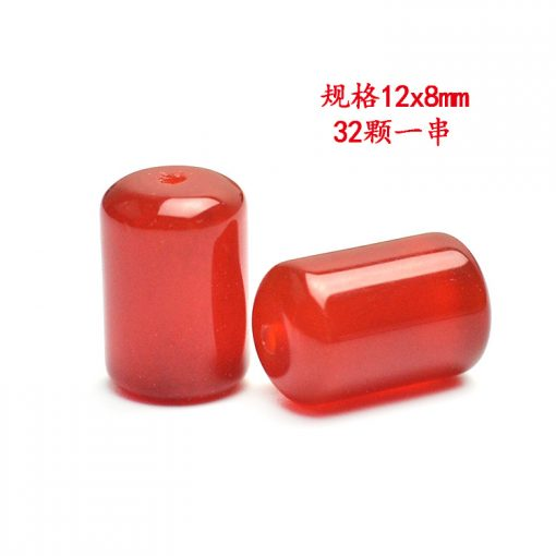 12x8mm natural cylindrical red agate loose beads DIY accessories beads GLGJ-088
