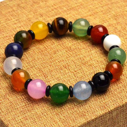 Boutique natural multi-jewel mix and match bracelet agate tiger eye stone dongling jade bracelet fashion mix and match bracelet GLGJ-069