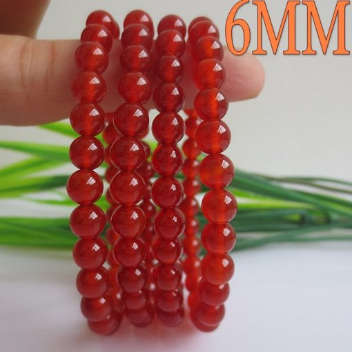 Boutique A Grade 6-18MM Natural Red Agate Bracelet GLGJ-068