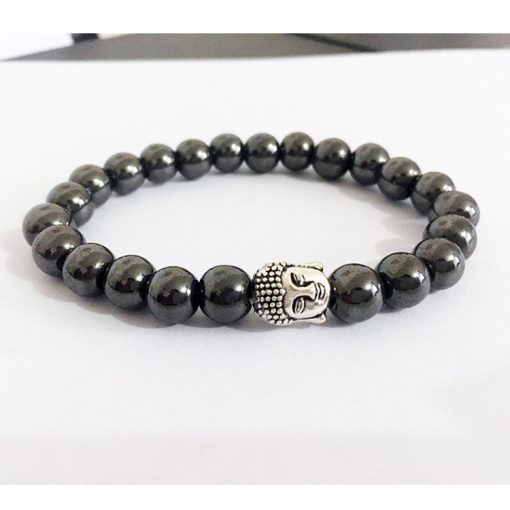 Men and women alloy gold and silver Buddha head black bile magnet bracelet factory direct wholesale MS-017