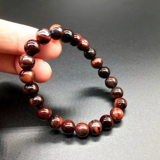 6 8 10 MM Red Tiger Eye Stone Bracelet HYue-061