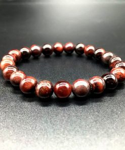 6 8 10 MM Red Tiger Eye Stone Bracelet HYue-061