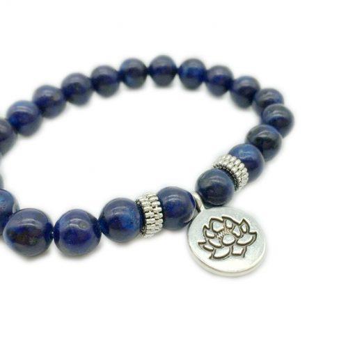 European and American Popular 8mm Natural Lapis Lazuli Pendant Bracelet Factory Direct Sale HYue-064