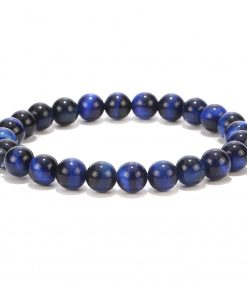 Hot Sale Unisex Natural Blue Tiger Eye Stone Bracelet Wholesale MS-018