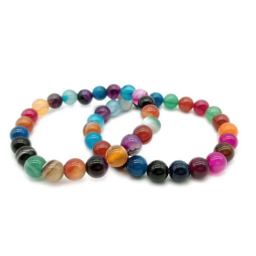 New Color Agate Bracelet For Men And Women Natural Stone Jewelry Wholesale HYue-059
