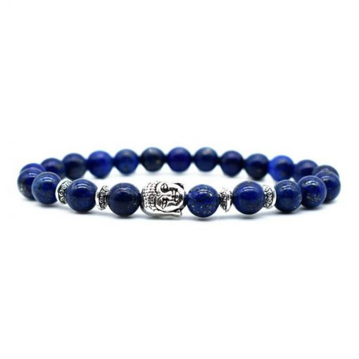 High Quality 8mm Lapis Lazuli Natural Stone Beads Men and Women Charm Bracelet Factory Direct Sales HYue-046