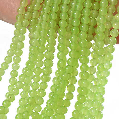 6-8mm grape green chalcedony DIY loose beads accessories about 39cm string GLGJ-187