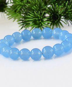 6.8.10mm ice seed blue chalcedony bracelet GLGJ-177