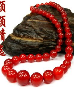 Fine natural red agate tower chain 6-14mm necklace 18 inches long GLGJ-107