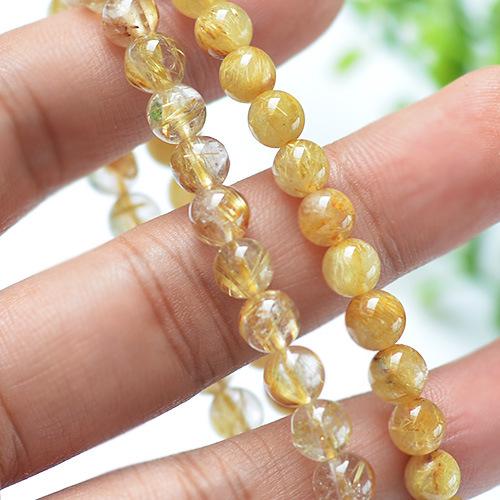 6-11mm natural stone blond crystal gemstone elastic bracelet wholesale GLGJ-155
