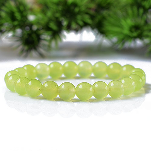6-8MM Grape Green Chalcedony Female Bracelet Wholesale GLGJ-179