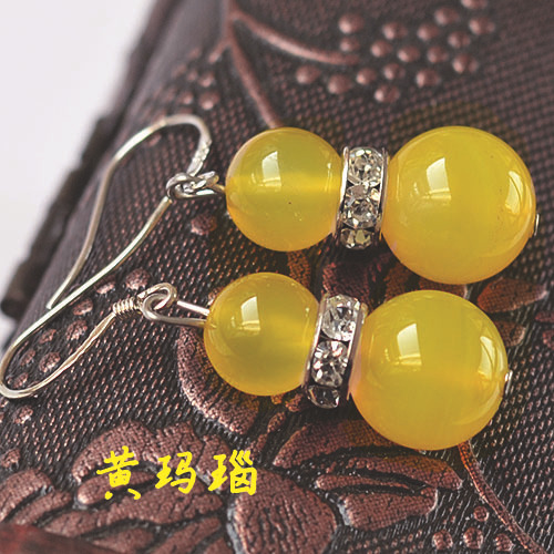 Natural Tiger Eye Garnet Color Agate Earrings Mixed Batch GLGJ-111