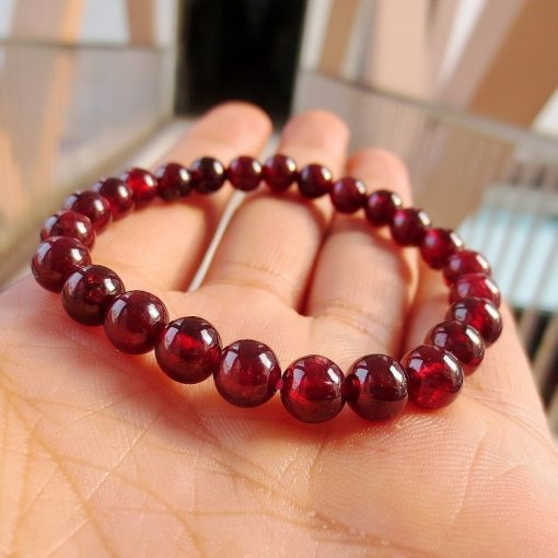 5-10mm boutique AA grade natural garnet simple bracelet wholesale GLGJ-189
