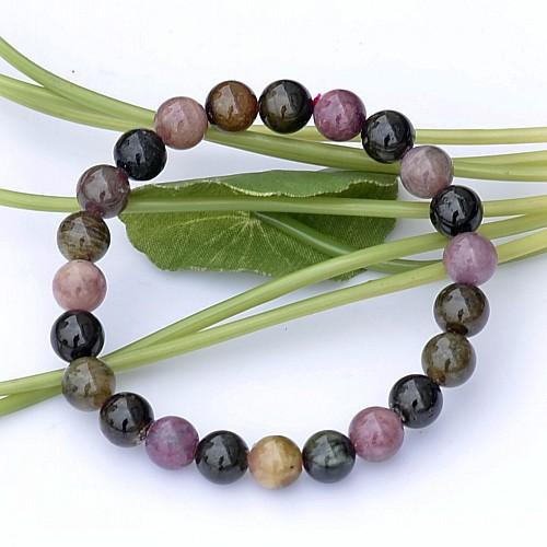 6-11MM natural stone simple and generous tourmaline finished bracelet wholesale GLGJ-151