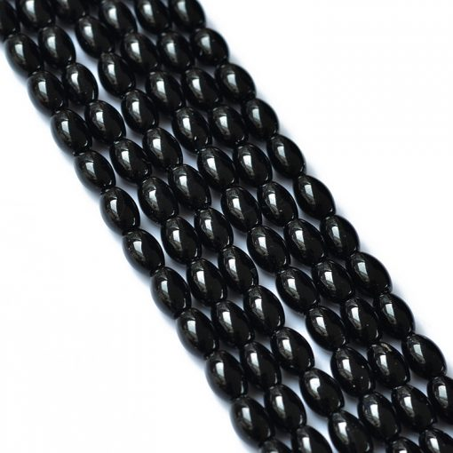 Natural black agate 8x12mm gemstone loose beads DIY accessories GLGJ-112