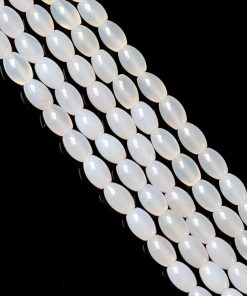 Natural ice white agate 8x12mm gemstone DIY loose beads GLGJ-115